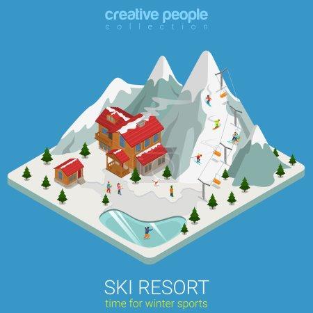 ski resort winter mountain sports