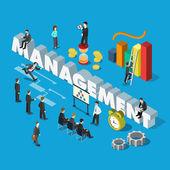 isometric management concept web