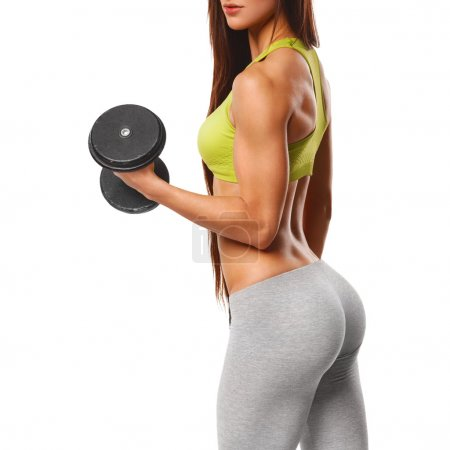 Sexy athletic woman working out