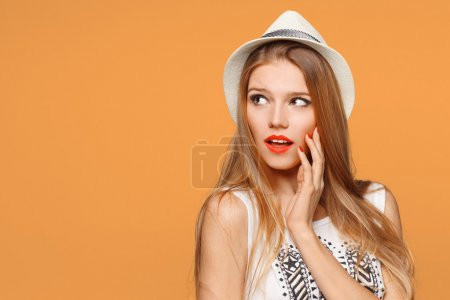 Surprised  beautiful woman