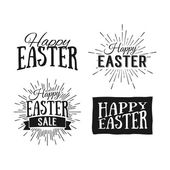 Happy Easter greeting cards Easter sale Hand Drawn logos