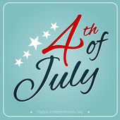 Postcard to the Happy independence day card of USA