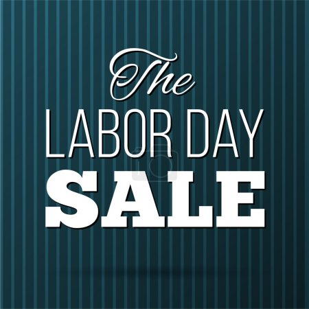 Labor Day Sale design poster.