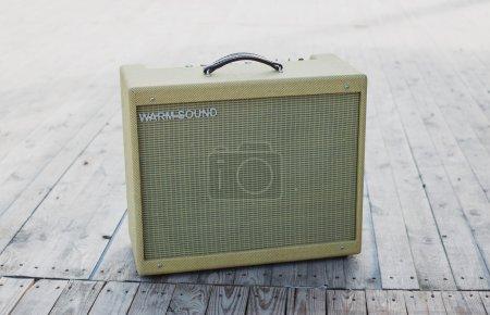 Yellow vintage guitar aplifier