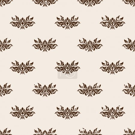 Photo for Seamless pattern - Old beige wallpaper - Royalty Free Image