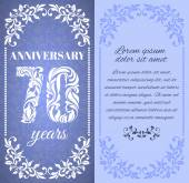 Luxury template with floral frame and a decorative pattern for the 70 years anniversary There is a place for text