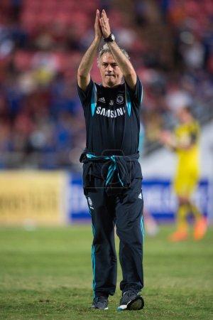 Jose Mourinho of Chelsea gestures