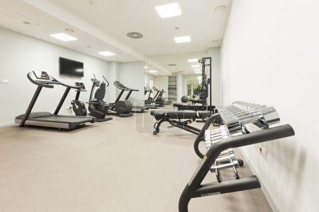 Interior of a modern gym