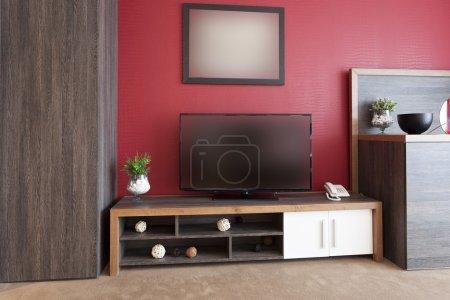 Big TV in modern living room