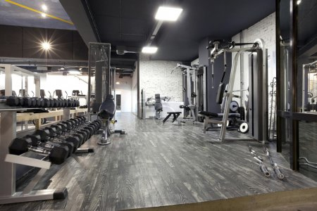 Photo for Modern gym interior with various equipment - Royalty Free Image