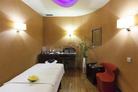 Massage room interior