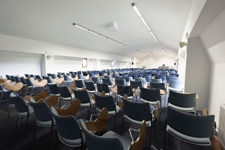 Modern lecture hall interior