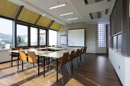 Bright conference room interior
