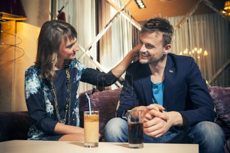 Photo for Couple in love on a date - Royalty Free Image