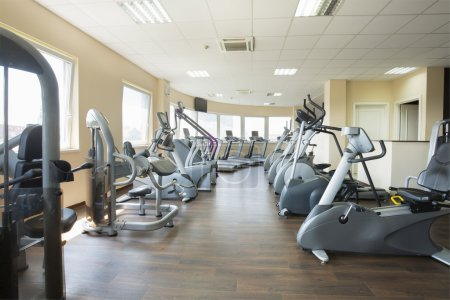 Photo for Modern gym interior with equpment - Royalty Free Image