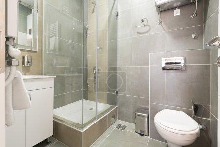 Interior of a modern bathroom