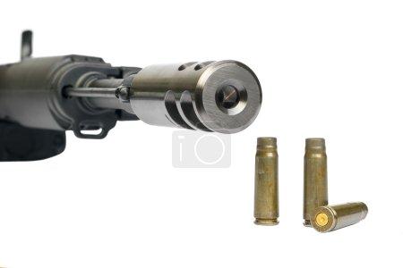 Saiga MK-03 (AK type), magazine and bullet shells...