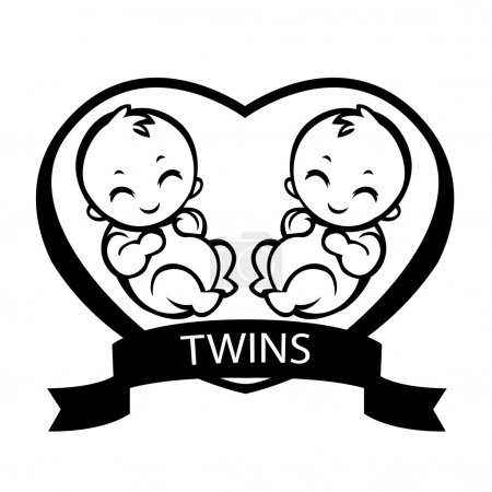 twin children