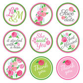 Personalized Candy Sticker Labels with rose