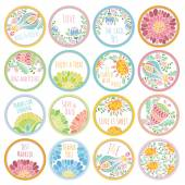 personalized candy sticker labels big set