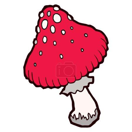 Autumn mellow amanita mushroom