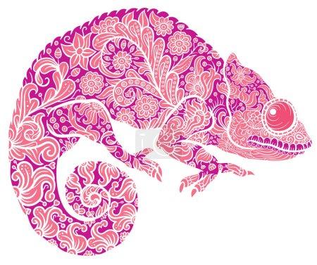 Zentangle stylized Chameleon
