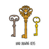 hand-drawn sketches of the keys