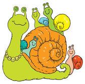 Happy snail family