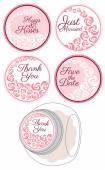 Candy Sticker Labels set
