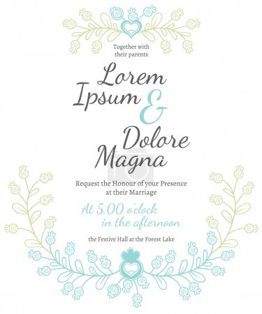 Invitation wedding card  template