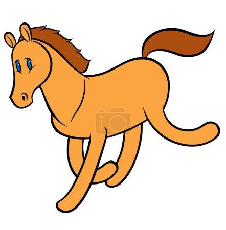 funny running horse
