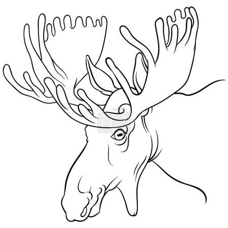 Moose mascot - Vector image of moose deer head on ...