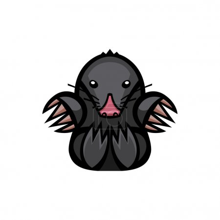 mole pest animal illustration