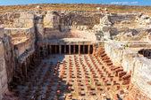Ruins of ancient Greek colonnade in Paphos, Cyprus