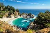 Beach and Falls, Julia Pfeiffer Beach, McWay Falls, California