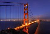 Night Illumination in Golden Gate bridge, San Francisco