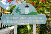 Sign, index Lighthouse Key West & Keeper's Quarters Museum.