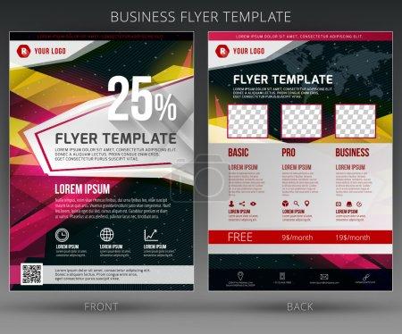 Illustration pour Modèle de brochure vectoriel abstrait de dépliant d'affaires. PSE10 - image libre de droit