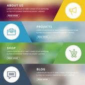 Flat design concept for website template
