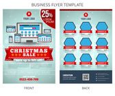 Christmas Sale Vector Business Flyer Template EPS10