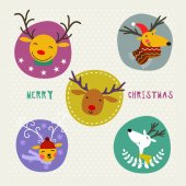 Christmas decoration set of design elements labels symbols  objects and holidays wishes