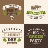 Vector set of St. Patricks Day typographic design elements