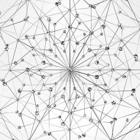 Wireframe Polygonal Element. Abstract Background with Diamonds