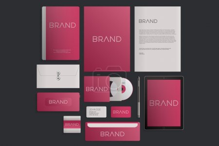Modern corporate identity template design. Flat design vector illustration