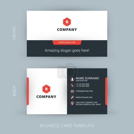 Illustration for Vector Modern Creative and Clean Business Card Template - Royalty Free Image