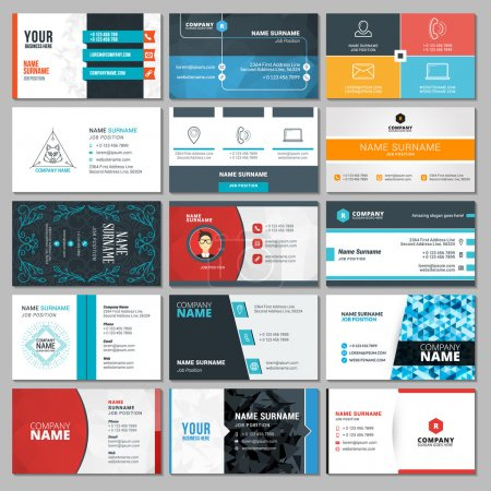 Illustration for Set of Modern Creative Business Card Templates - Royalty Free Image