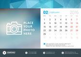Desk Calendar 2016 Vector Design Template. Week Starts Monday