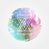 Abstract Vector Background with Hipster Geometric Line Art Element