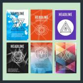 Set of Creative Abstract Geometric Hipster Line Art Elements for Posters Flyers Covers
