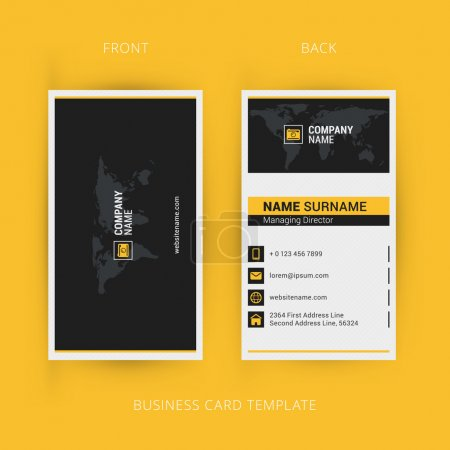 Illustration for Vector Modern Creative and Clean Business Card Template. Flat Design - Royalty Free Image